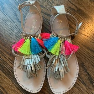 Lilly Pulitzer Sandals with fringe